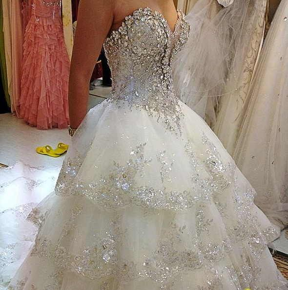 A Bride Will Look More Beautiful With Wedding Dress Lot Of Bling