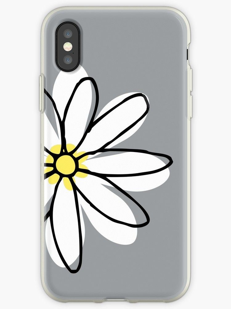 Doodle Cute White Yellow Daisy Flower iPhone Case & Cover