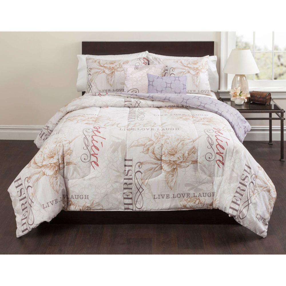 live laugh love 5 piece queen size bedding comforter set top quality rh pinterest com