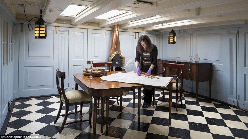 visitors to hms victory can go in nelson s cabin for the first time rh pinterest com
