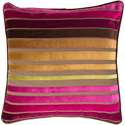 Raspberry Wine And Multi Colored Striped 40 X 40 Pillow Sala De Awesome Raspberry Decorative Pillows