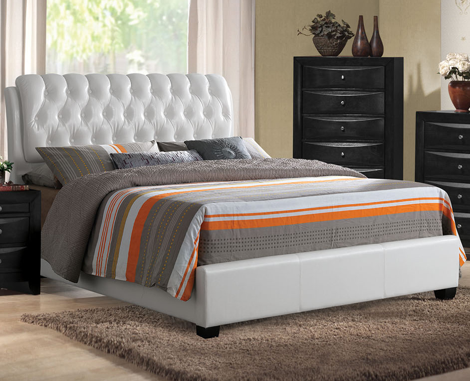 Ireland Queen Leather Bed Acme Furniture Home Gallery