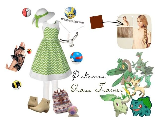 """""""Pokemon Grass Trainer"""" by amber-plasters on Polyvore featuring art"""