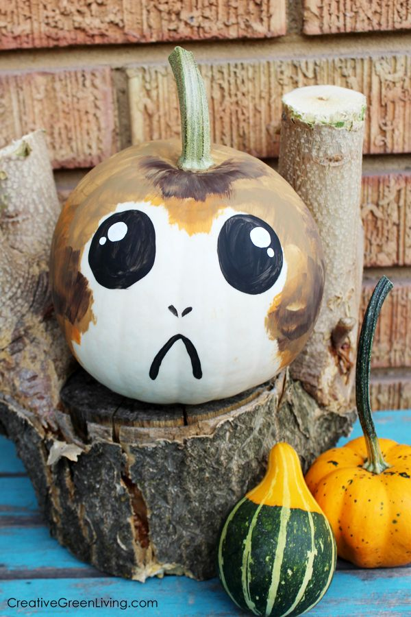 Star Wars Halloween Craft Porg Pumpkins Halloween Crafts