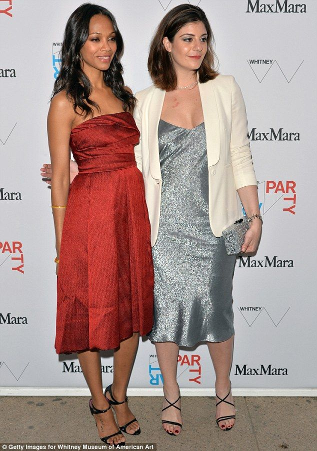 Ladies of the night: Zoe joined Maria Giulia Maramotti, US Director of Retail at Max Mara, right, to host the event