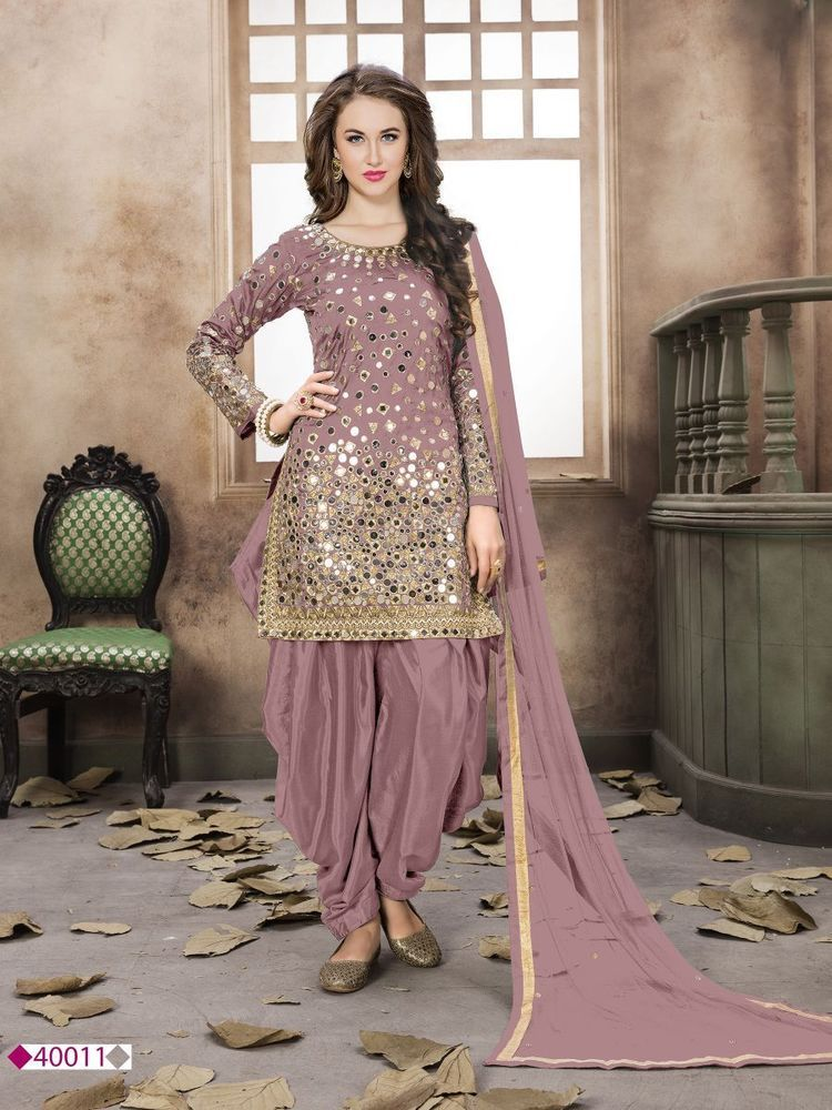 Bollywood Punjabi Patiala Suits Indian Wedding Shalwar Kameez Mirror Embroidery Punjabi Suits Party Wear Dresses Patiyala Dress