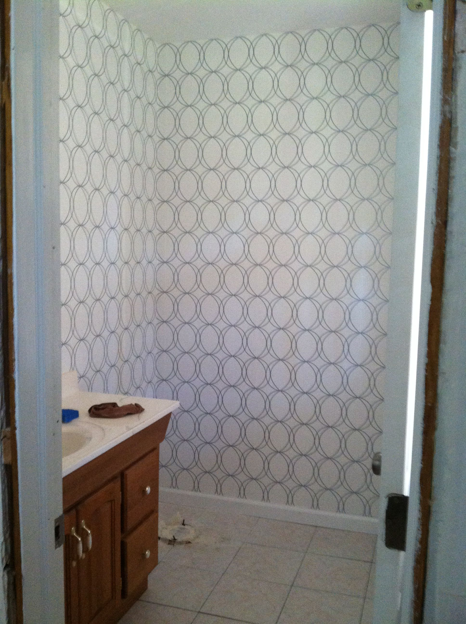 love my white and silver wallpaper from allen and roth lowes rh pinterest com