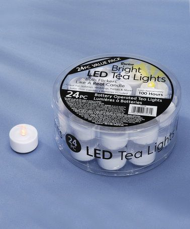 Another great find on #zulily! LED Tea Light - Set of 24 #zulilyfinds