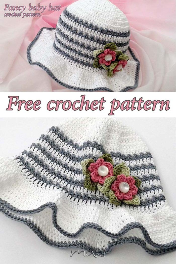 Fancy Baby Hat - Free Crochet Pattern by Maki | Crochet | Pinterest