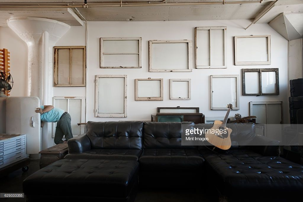 Stock Photo Loft decor A wall