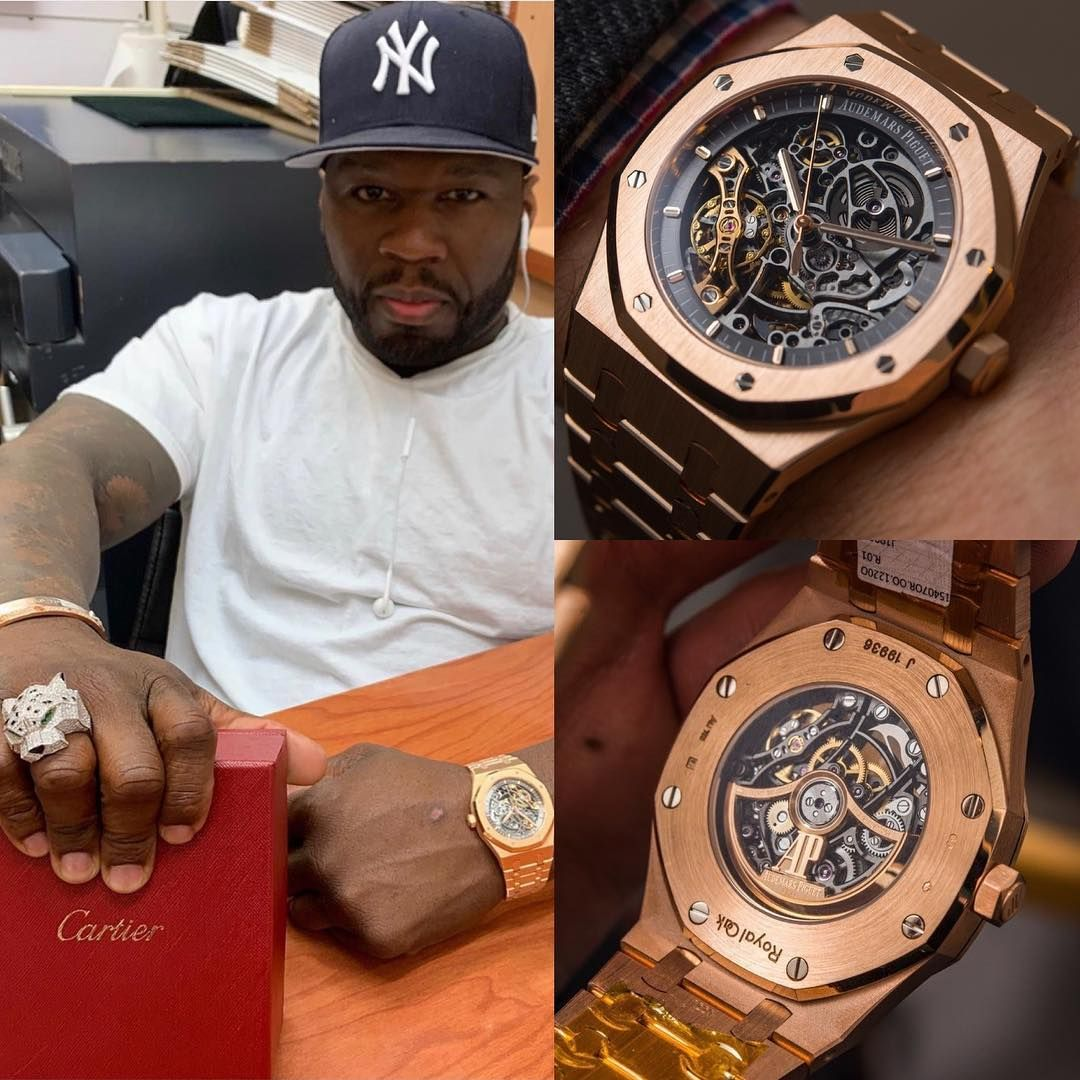 American Rapper 50cent Rocking Some Beauty On The Wrist An