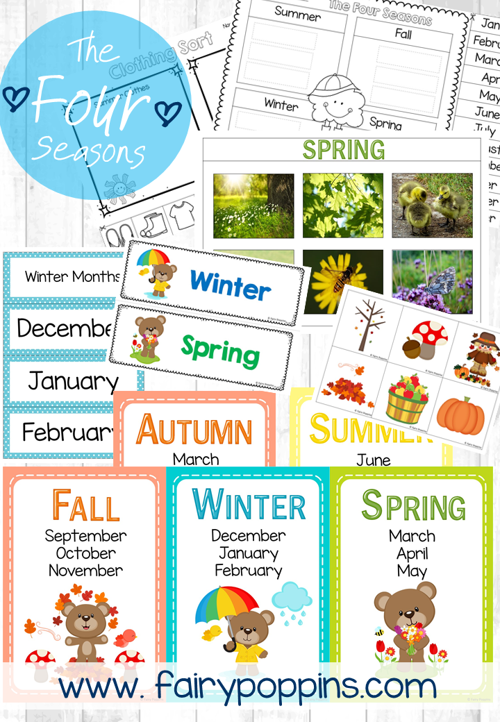 Four Seasons - Charts, Worksheets & Sorting Activities ...