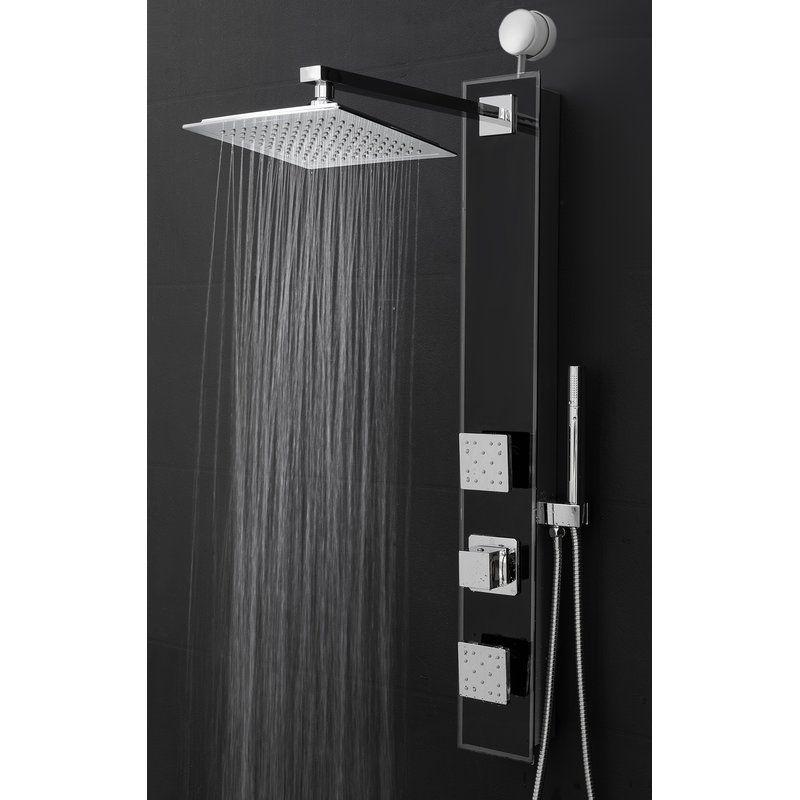 Diverter 35 43 Shower Panel With Adjustable Shower Head And