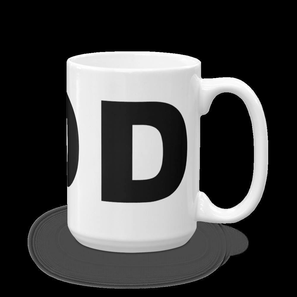 D Block Letter Initial Coffee Mug 11
