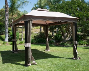 12 X 10 Callaway Roof Style Domed Garden House Available At Homedepot Com Outdoor Structures Outdoor Gazebo