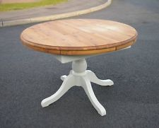 STUNNING SHABBY CHIC CIRCULAR EXTENDING DUCAL DINING TABLE