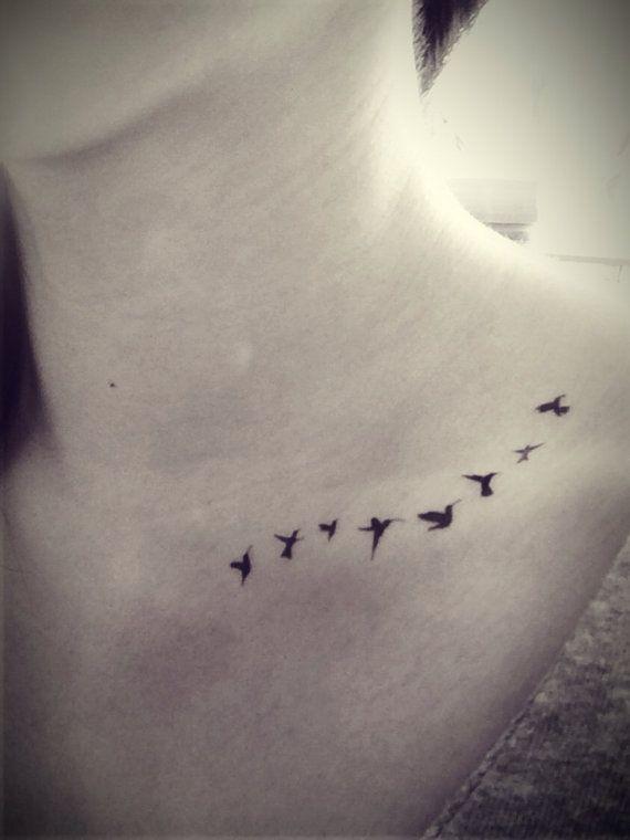 8pcs Flying Tiny Birds Swallow silhouette Tattoo - InknArt ...