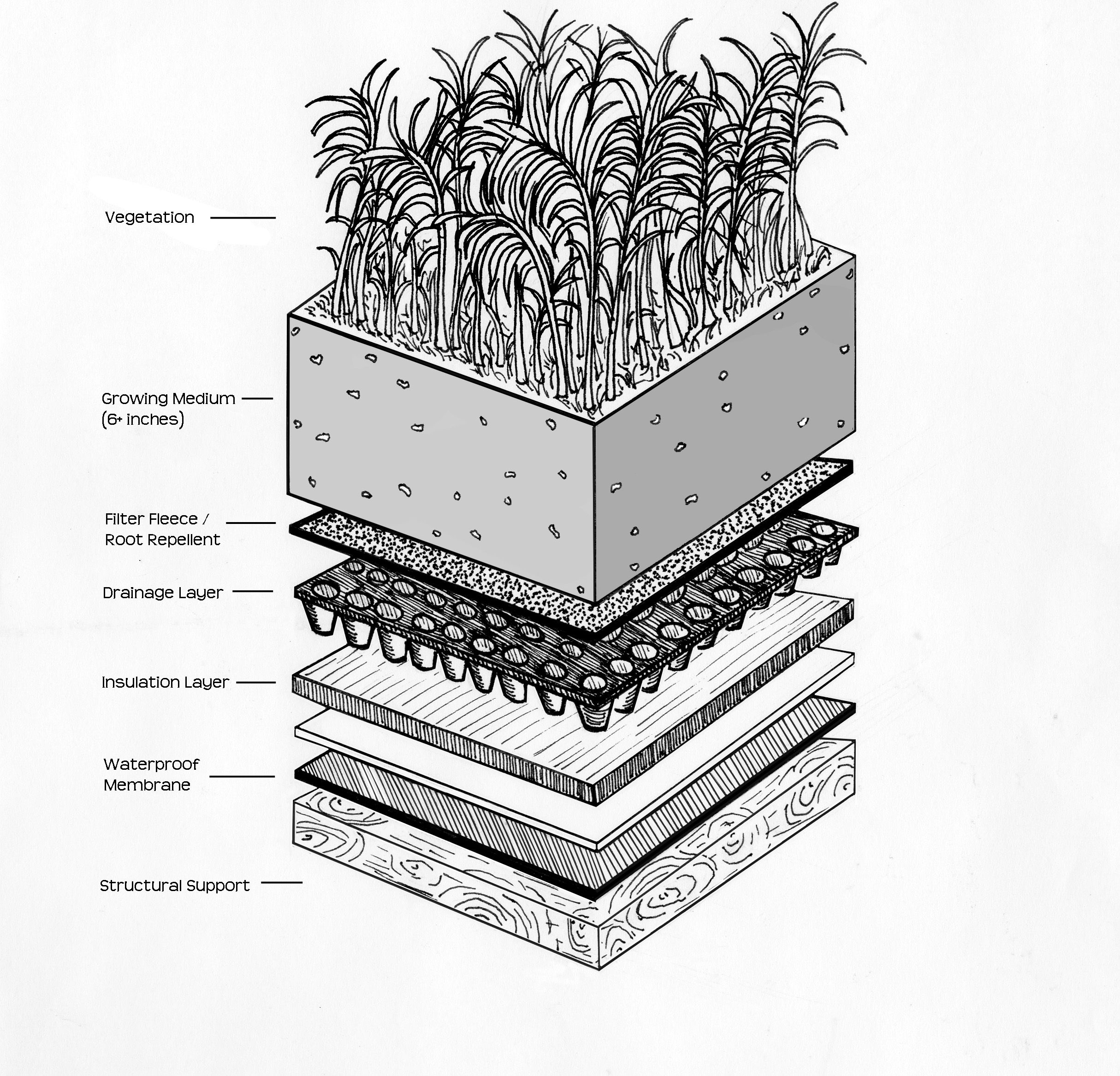 Green roof system rooftop vertical gardens pinterest for What is terrace farming definition