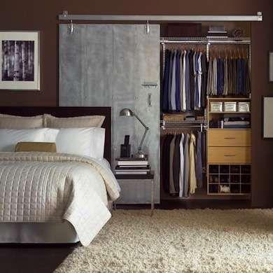 space saving sliding closet door design chambre pinterest rh pinterest com