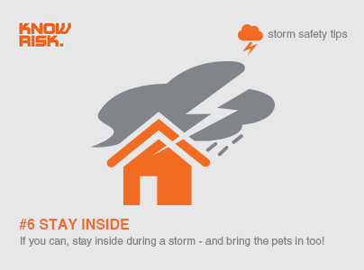 Storm Safety Tip 6 Stay Inside During Storms And Bring Your