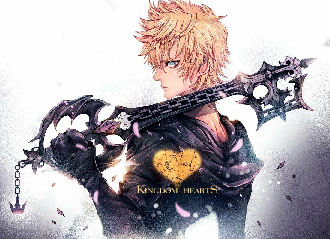 Kingdom Hearts Lineart : Kingdom hearts roxas kvover tumblr fictional stuffs random