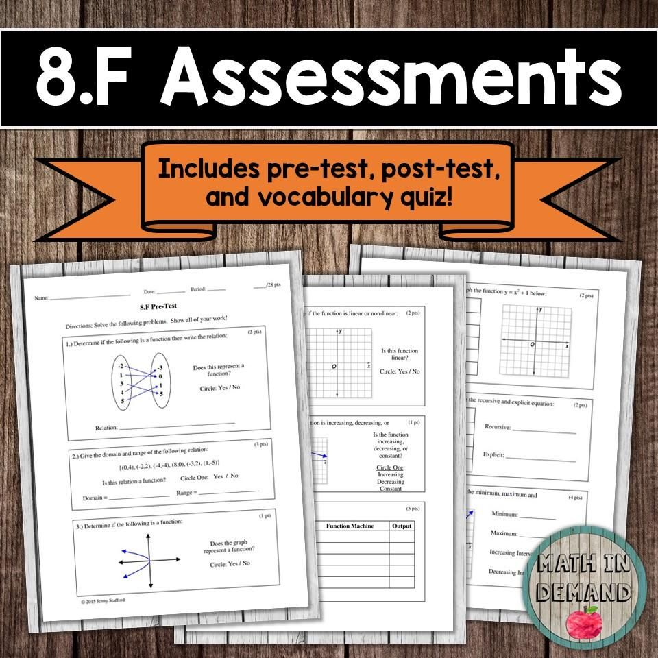 8th Grade Math Assessments Math In Demand 8th Grade Math Math Assessment Vocabulary Quiz [ 960 x 960 Pixel ]