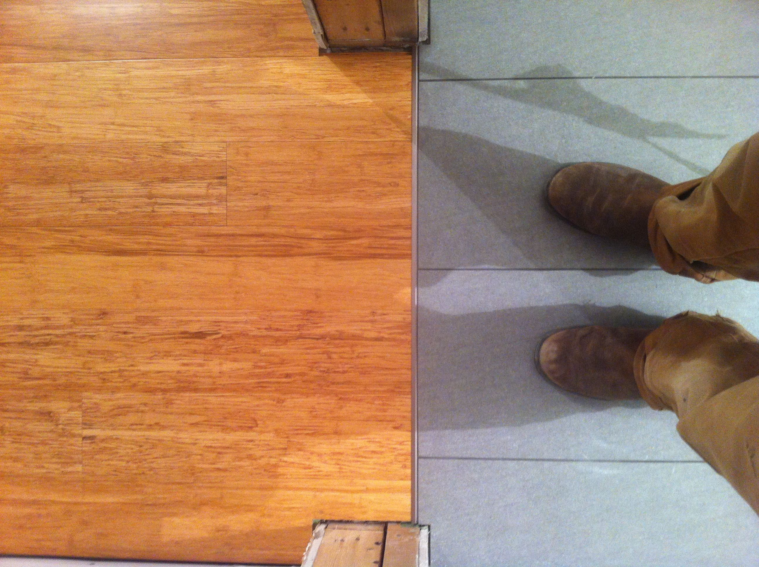 Transition From Bathroom Tiles To Bamboo Floor Floors Pinterest