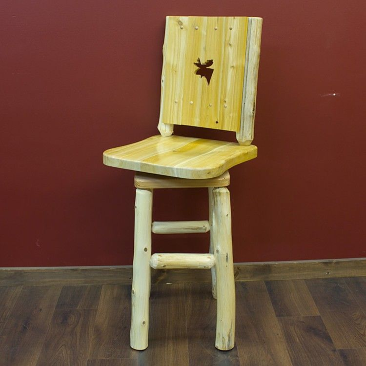 jhe pin log lake silhouette stool barstool s place by stools furniture bar out cedar cut