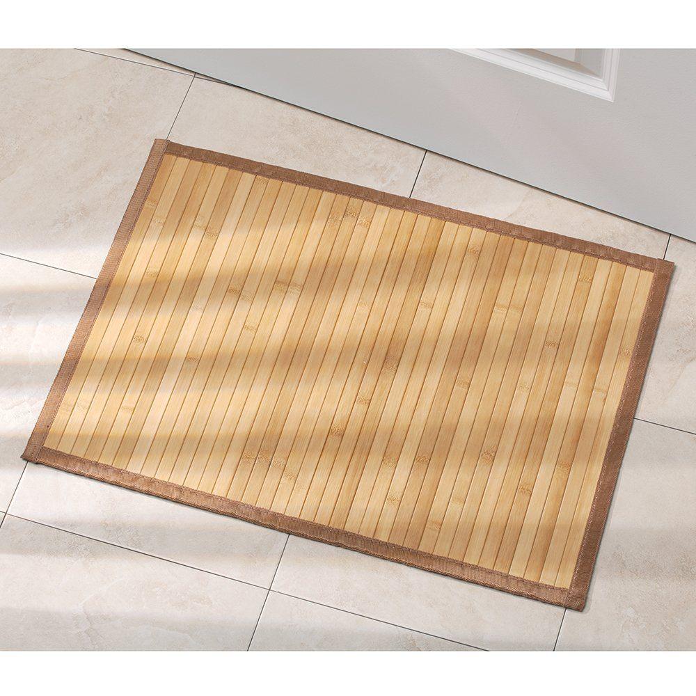 tapis de bain bambou tapis de bain