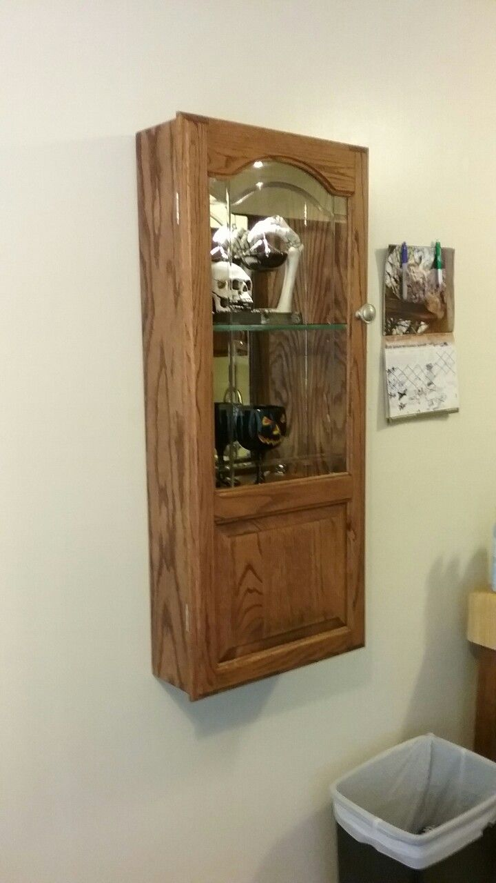 wall mounted oak wine liquor cabinet built by george stempinski rh pinterest com