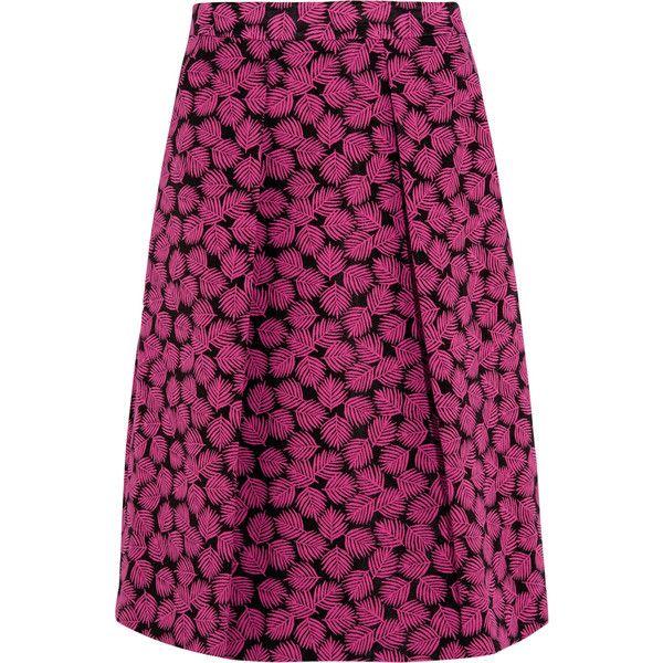 MICHAEL Michael Kors Pleated jacquard skirt ($96) ❤ liked on Polyvore  featuring skirts,