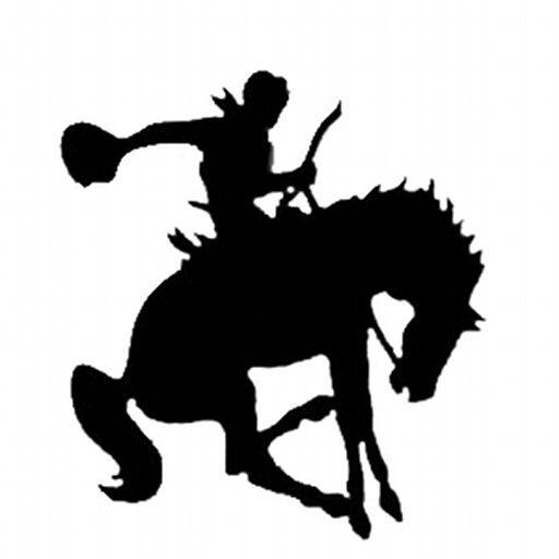 Bucking bronco | Horse silhouette, Silhouette art, Art