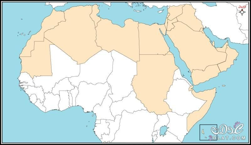 خريطة الوطن العربي الجديدة ملونة وصماء صور متعدده لخرائط الوطن العربي Border Design Page Borders Map