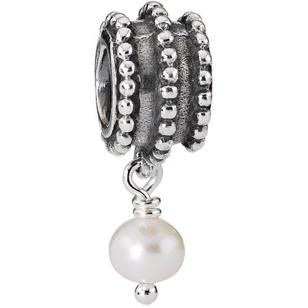 Pandora Beveled Dangle with Pearl