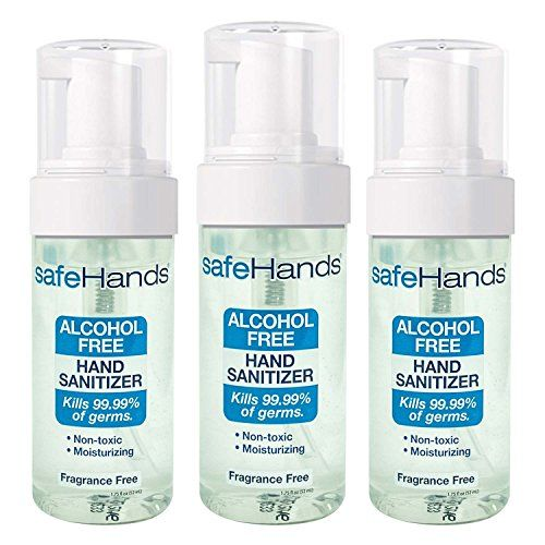 Safehands 1 Alcohol Free Foam Hand Sanitizer Brand Fragrance Free