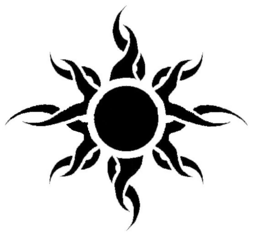 Tattoo Designs Sun: Sun Tribal Tattoo Design …