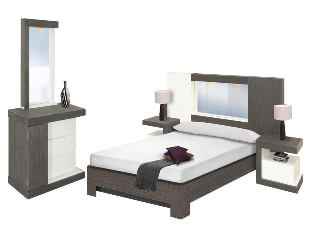 Recámara moderna hermosa y confortable con diseño exclusivo moderno
