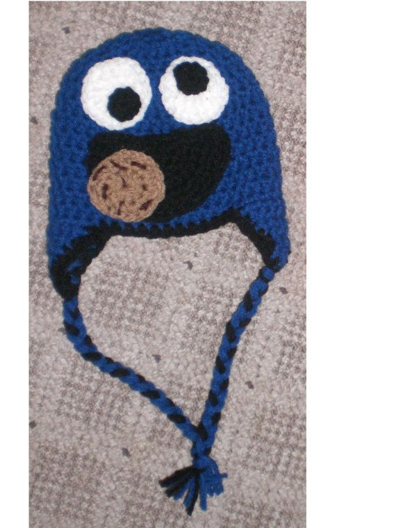 Crochet cookie monster hat | Crochet : Kids character hats ...