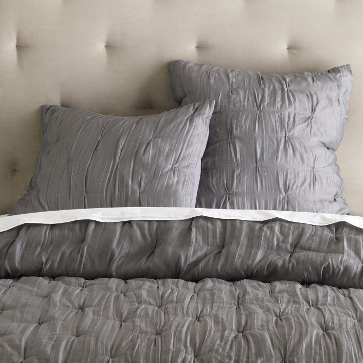 Stella Quilt + Sham in Gray Stone from West Elm Ordered for the Master Bedroom