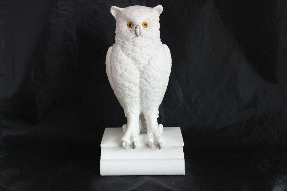 Vintage White Owl On Books Andrea By Sadek Japan Ebay In 2020 White Owl Owl White Vintage