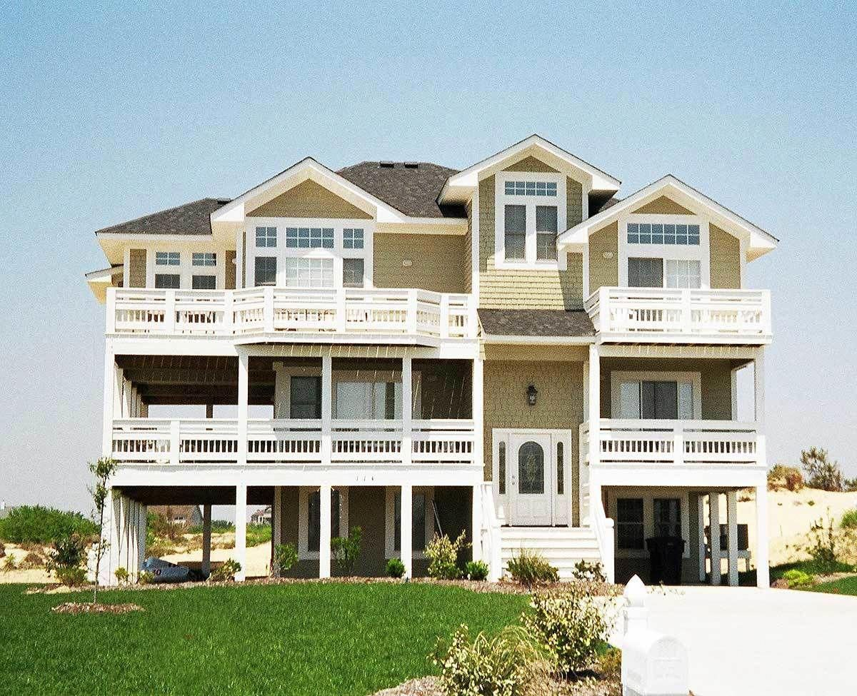 beach house with lots of porches and decks 13042fl architectural rh pinterest com