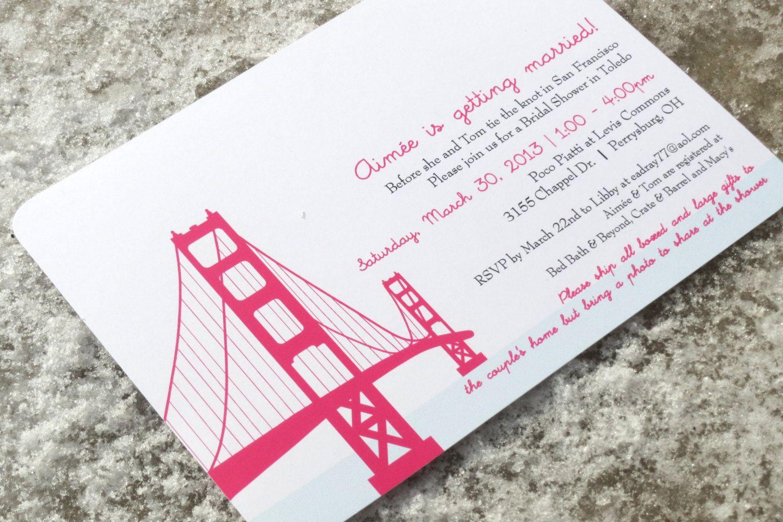 Golden Gate Bridge Wedding Invitation Deposit by