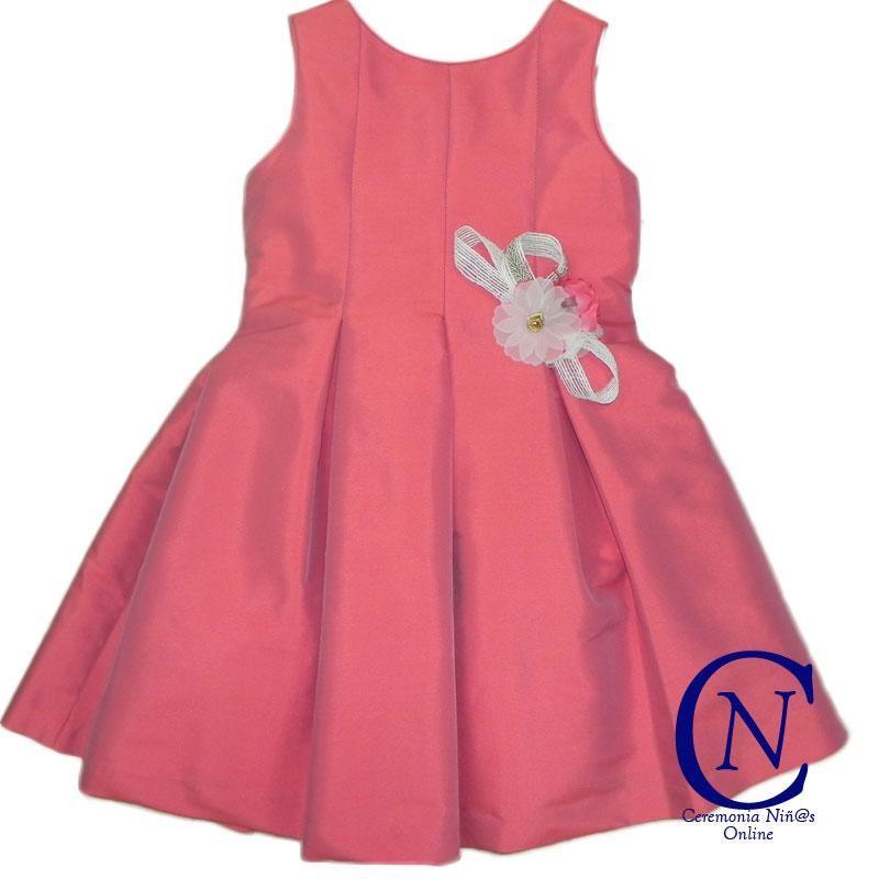 Vestido de ceremonia Confecciones Anavig raso rojo