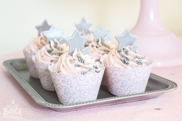 Pink Champagne Cupcakes - Easy receipe