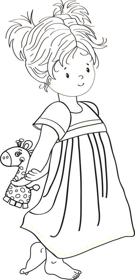 une fille avec une girafe dessin petite fille pinterest girafes filles et dessin petite fille. Black Bedroom Furniture Sets. Home Design Ideas
