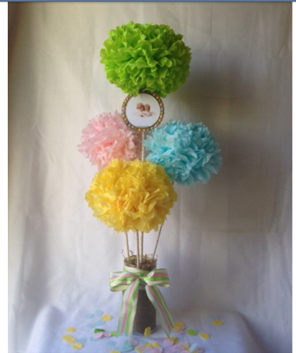 pom pom centerpieces - Google Search