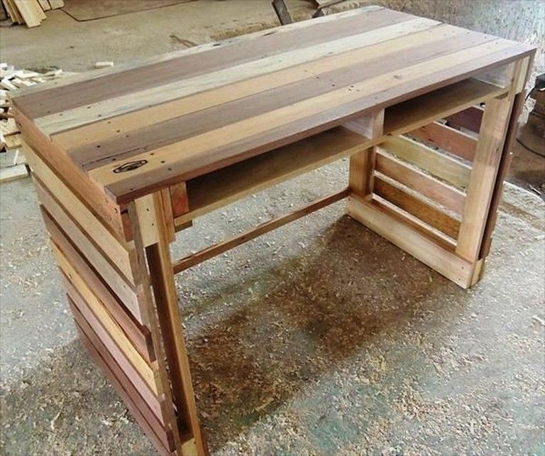 26 inspiring simple small diy pallet desk designs for
