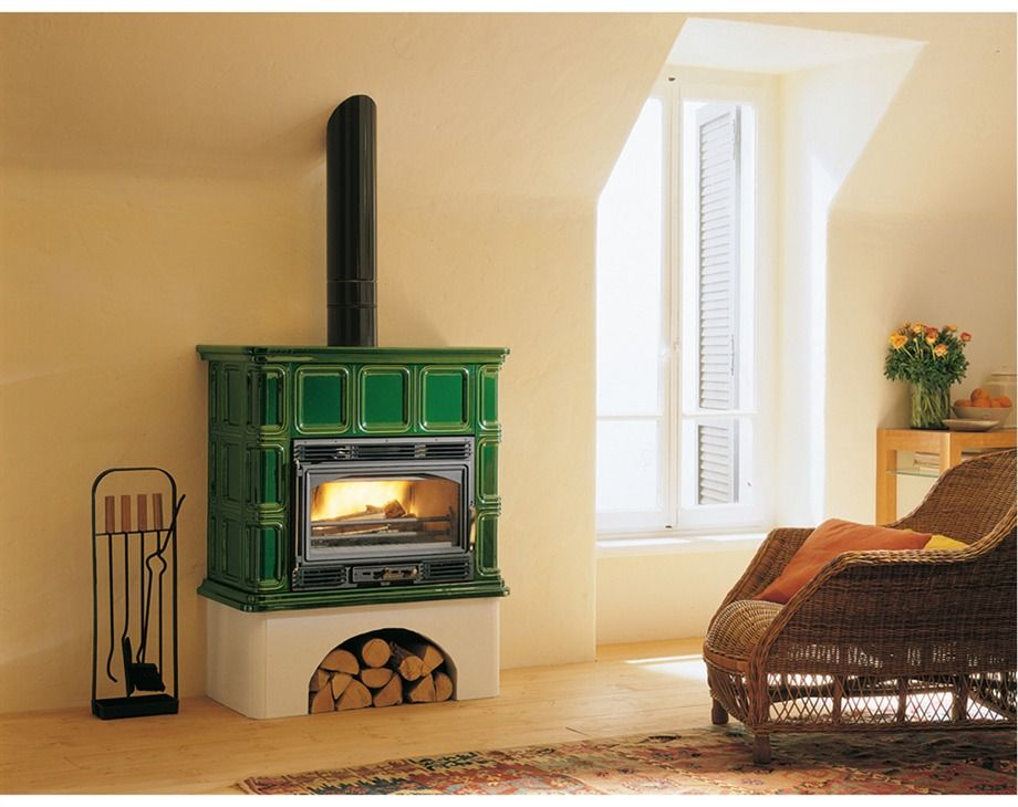 Palazzetti wood stove in green