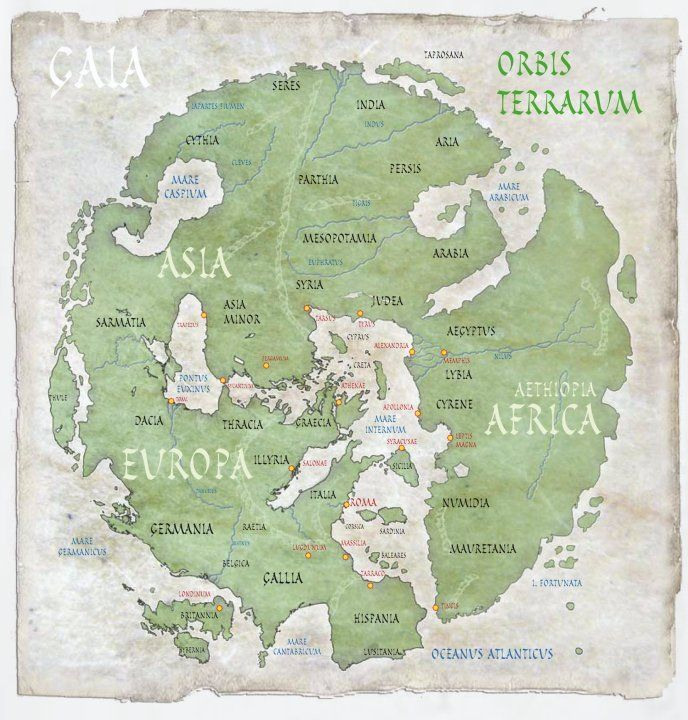 How the Romans saw their world  Ancient History Maps  Pinterest