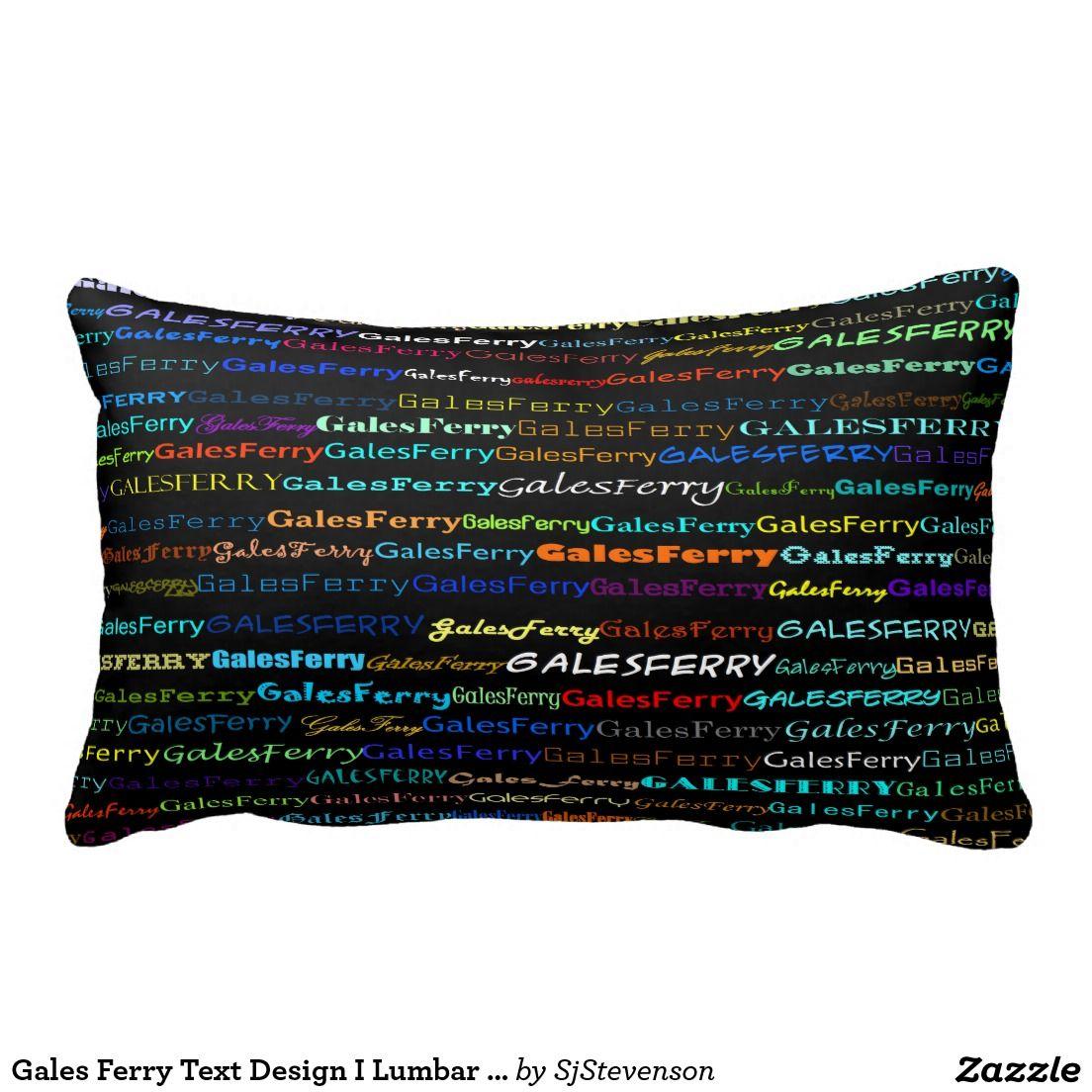 Gales Ferry Text Design I Lumbar Pillow